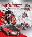 O Envio gratuito de Modelos de Carros Esportivos de Luxo Deformação Robô Transformação Controle Remoto Conluio RC Carro Parede de Escalada Brinquedos Caçoa o Presente