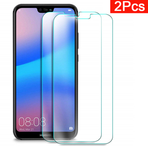 2pcs Tempered Glass For Huawei Honor P20lite P20pro Protective glas Tremp Phone Case On P20 Lite P 20 Pro Light Screen Protecter(China)