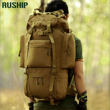 Military Backpack Waterproof Nylon 1000D Large Backpack Bag Multi-function Camouflage Pack 65L Rucksack Tactics Bag Molle System