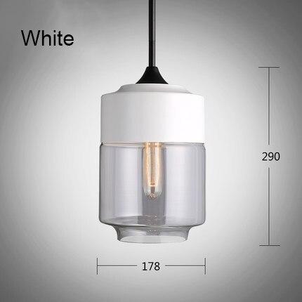 Işıklar ve Aydınlatma'ten Kolye ışıkları'de Minimalist demir kolye ışık cam gölge. Silindirik çatı lambası droplight oturma yemek odası için çalışma odası loft