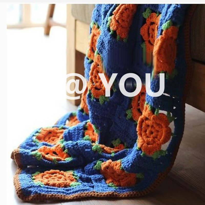 Limited Custom-made Flower Blanket DIY Craft Knitting Cotton Thread Handmade Blanket . . Shawl ScarfLimited Custom-made Flower Blanket DIY Craft Knitting Cotton Thread Handmade Blanket . . Shawl Scarf