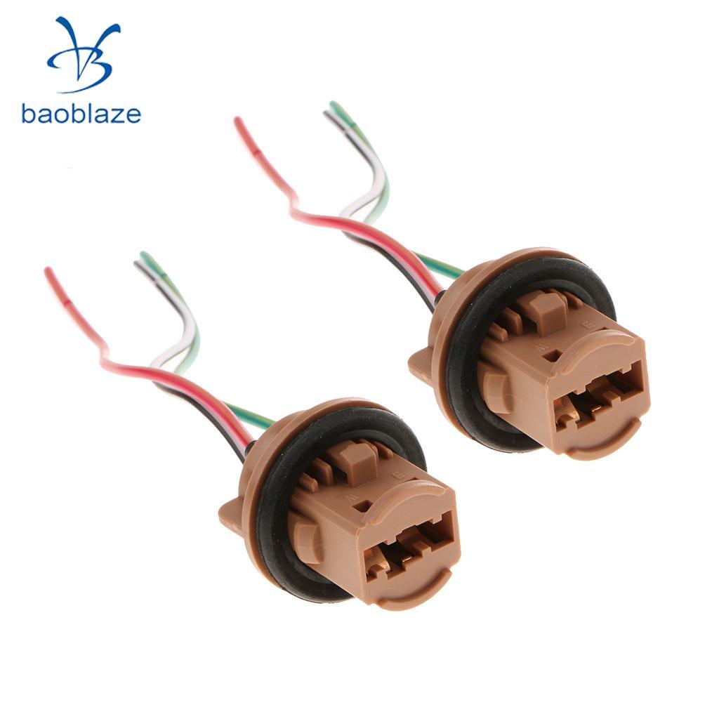 2pcs 7443 Instrument Light LED Bulb Socket Harness Wire Adapter Universal