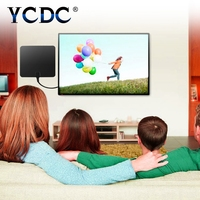 YCDC Flat HD TV Amplified Booster Digital Indoor Antenna USB Aerial HDTV 80 Mile Range ATSC DVB with Detachable Signal Amplifier
