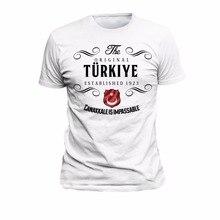 تي شيرت تركي أصلي Canakkale Honor فخور البلد 2019 موضة الصيف الجديدة قصيرة الأكمام القطن تصميم تي شيرت الخاصة بك