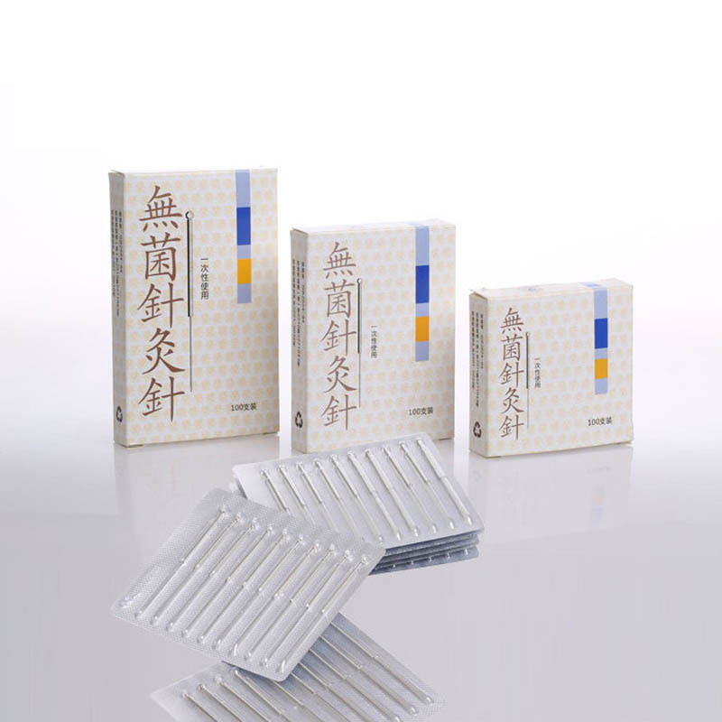 100 disposable sterile acupuncture needle sterile acupuntura asepsis aluminum foil packing Cloud dragon