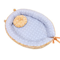 Infant Toddler Bed Multifunction Crib Portable Baby Crib Newborn Bassinet Safe Comfort Baby Cotton Bed Sleep Nest Baby Pillow