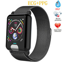 E04 Smart Watches ECG PPG Heart Rate Blood Pressure Monitor Fitness Tracker Smartband For IPhone SAMSUNG Huawei Phone Watch