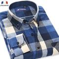Langmeng 2016 mens spring autumn male casual shirt men long sleeve flannel plaid dress shirt 100% Cotton shirts camisa masculina