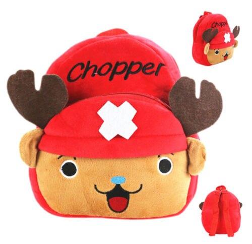 """One Piece Чоппер дети 9 """"Рюкзак Плюшевые сумка молния сумки Y238 унисекс"""