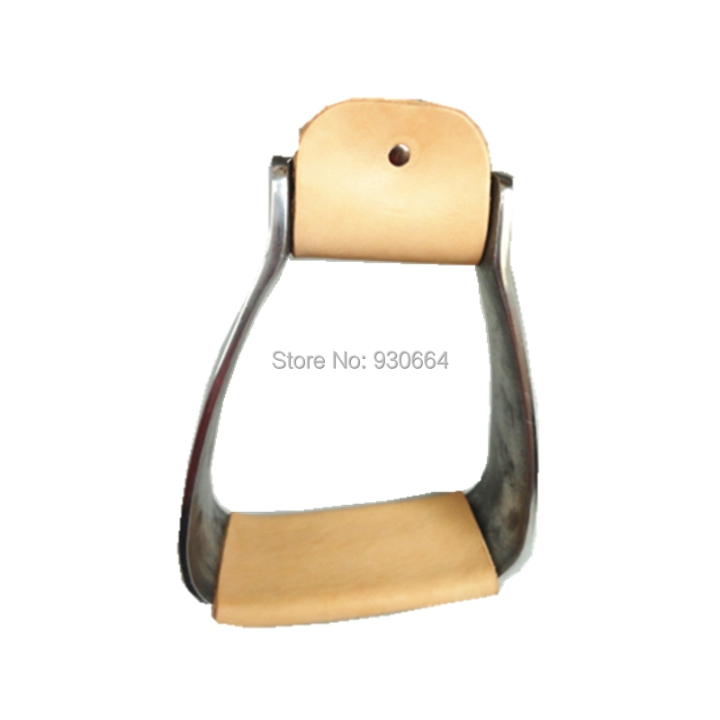 5 Inch Aluminum   Stirrups Wrapped Leather   Horse Products Horse Tack F1021 ...
