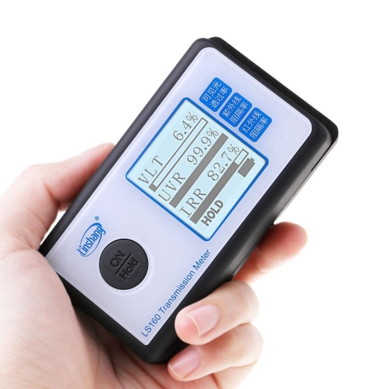 LS160 Portable Film solaire Transmission mètre Test fenêtre teinte UV IR rejet Transmission de la lumière visible