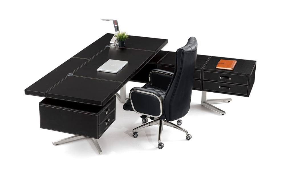 Hot Ing Leather Office Desk Modern Style On Aliexpress Alibaba Group