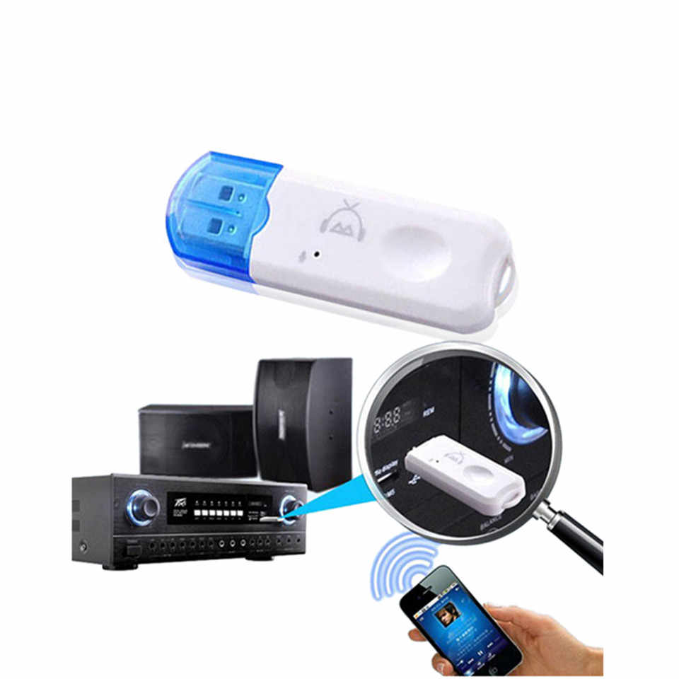 Met microfoon mini Bluetooth handsfree ontvanger USB Aux wireless audio adapter voor auto Speaker MP3 muziekspeler geen 3.5mm kabel
