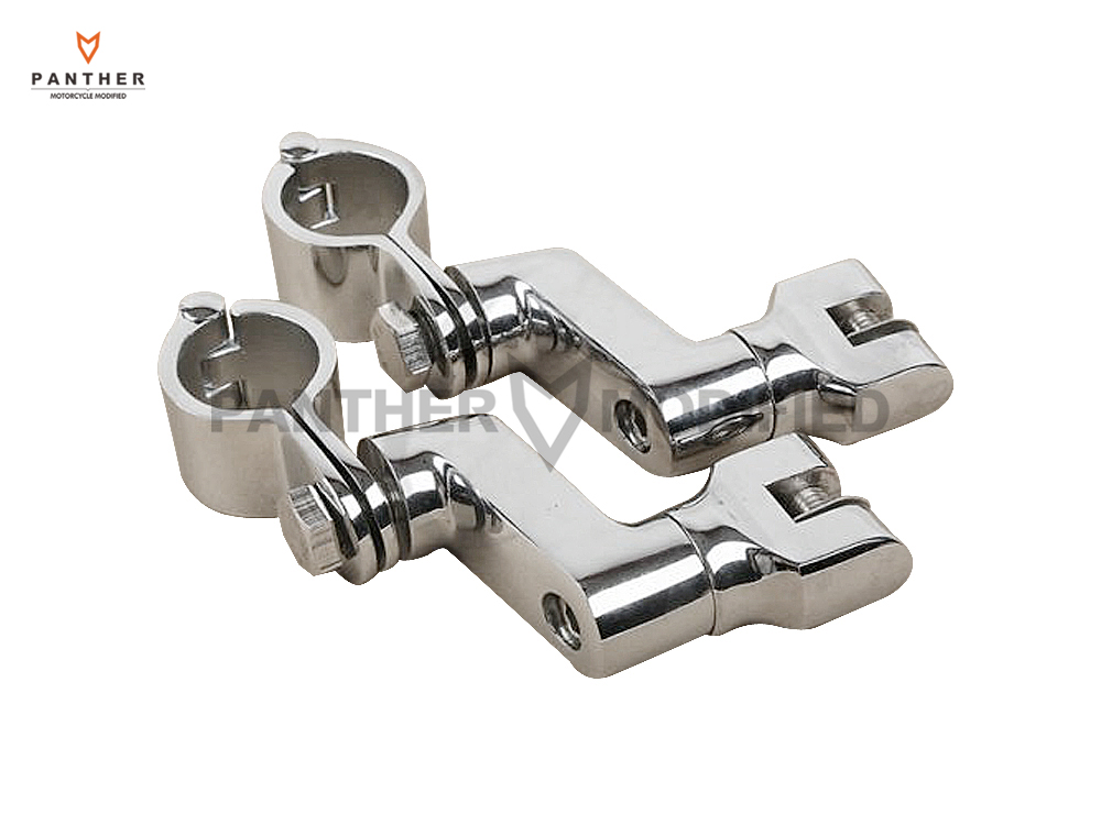 цена на 30mm Aluminum Motorcycle Front Foot Rest Pegs Mount Kit Moto Adjustable FootPegs Footrest support case for Harley Yamaha Honda