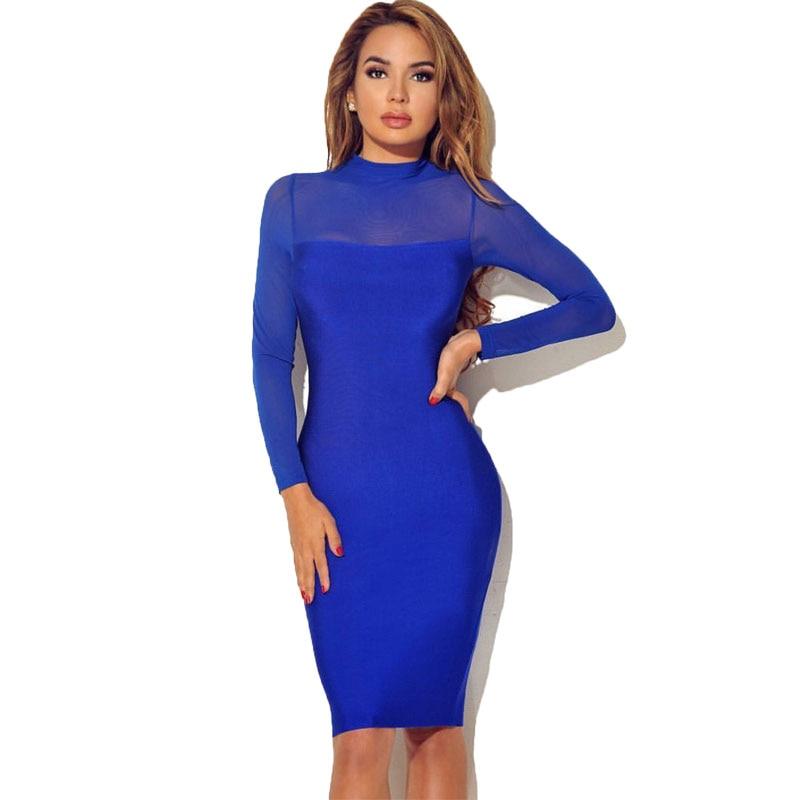 Cheap near bodycon patchwork long mesh dresses sleeve price