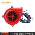 Auxmart rojo-negro ABS Universal JDM BOV Simulador de sonido Auto parts coche fake sound turbo válvula de escape Válvula de descarga electrónica 12 V