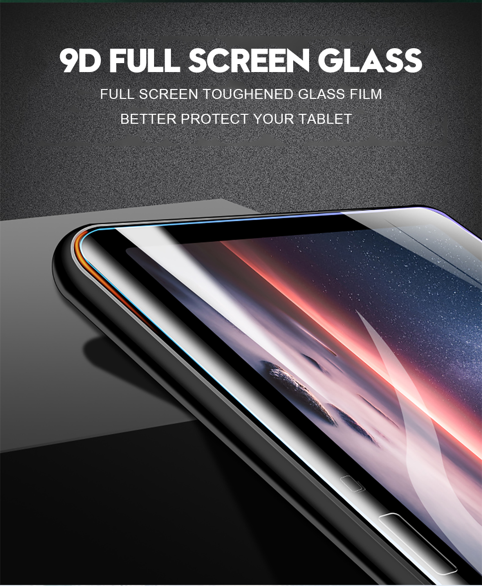 9D Full Coverage Tempered Glass Flim For Samsung Galaxy Tab A 10.5 2018 10.1 2016 E 9.7 Screen Protector For Galaxy Tab S4 S3 S2 (4)