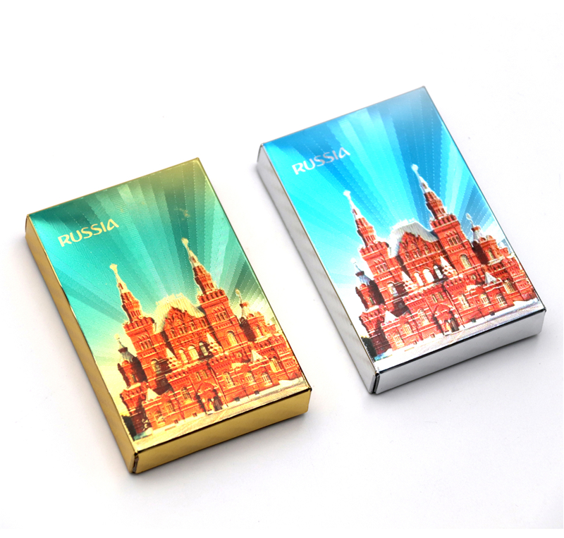 2019 New Russia Poker 24K Golden Foil Playing Cards PVC Plastic Waterproof Durable Poker Cards Game Cards