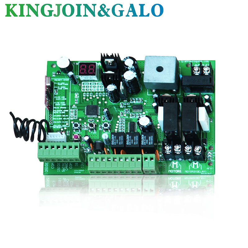 Image 2 - 2 Remote controls Swing Gate Opener motor Controller circuit card board 24V DC motor only control board-in Access Control Kits from Security & Protection