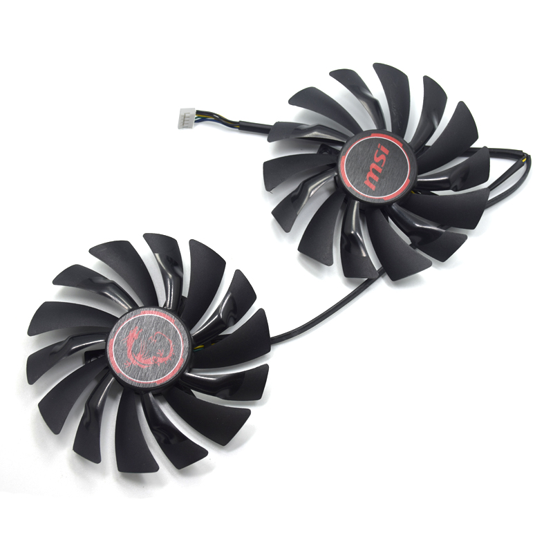New 95MM PLD10010S12HH Cooler Fan Replace For MSI Geforce GTX 1060 970 1050 1080 TI 1070 RX 580 570 470 480 Graphics Card Fans