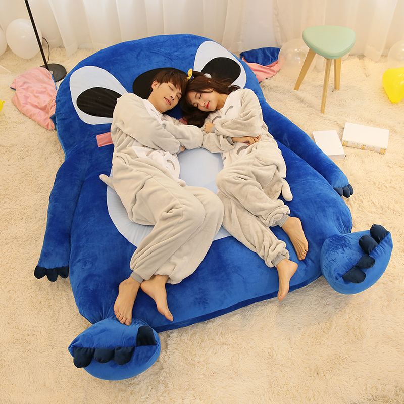 buy 220x150cm large size cartoon mattress stitch cushion plush giant stitch. Black Bedroom Furniture Sets. Home Design Ideas