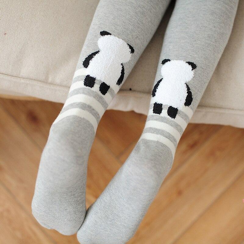 Autumn and winter new panda cotton tights Women cartoon jacquard tights