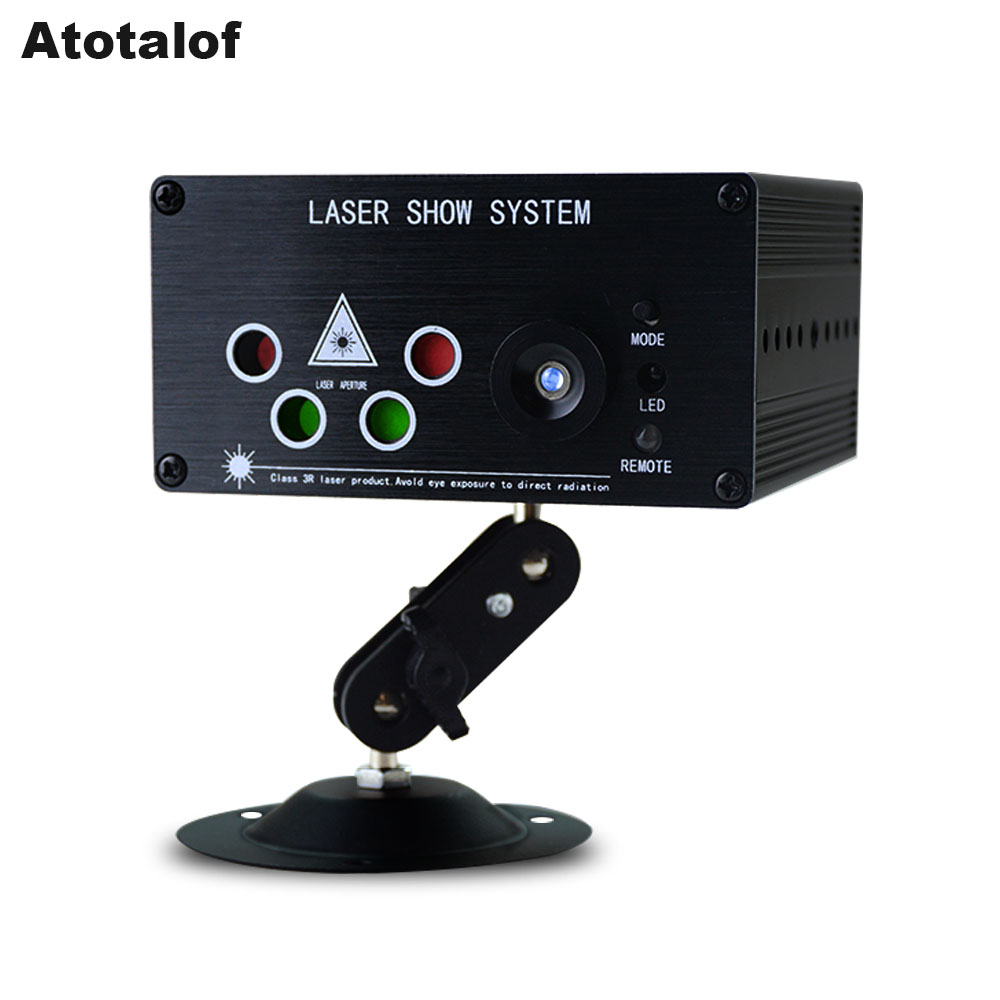 Atotalof Mini LED Laser Light RGB 120 Patterns 5 Lens Laser Projector 3W Blue LED DJ Party Disco Laser LED Stage Lighting Effect rg mini 3 lens 24 patterns led laser projector stage lighting effect 3w blue for dj disco party club laser