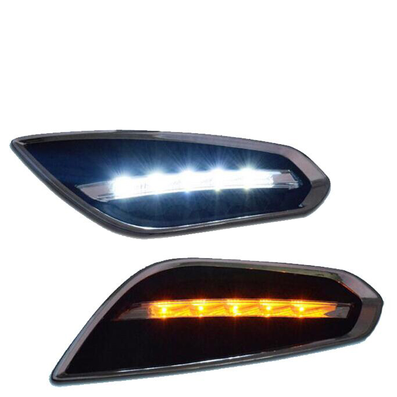 ABS 2PCS For Volvos S60 V60 2011 2012 2013 LED Daytime Running Light LED DRL Lamp with Auto Light-Off Function Waterproof Cover okeen 2pcs high quality led drl for ford raptor f150 2010 2011 2012 2013 2014 daytime running lights with turn signal lamp 12v