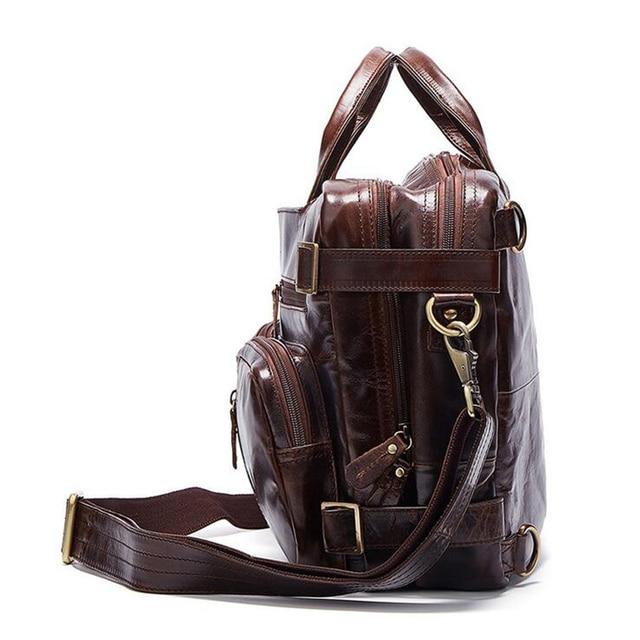 Senkey style 2017 Genuine Leathe Business bag Men Travel Backpack Casual Fashion Document Real Leather Man Office Bag Designer  2