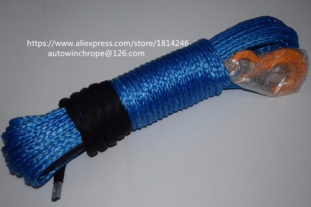 Free Shipping 8mm*30m Blue Synthetic Winch Cable,Winch Rope Extenstion,ATV Winch Line,Off Road Rope 3500lb winch electric winch 12v 4x4 utv atv winch free shipping