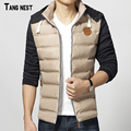 TANGNEST Men's Thick Coat 2017 New Arrival Men Casual Slim Fit Winter Warm Coats Male Patchwork Korean Style Overcoat MWM1437