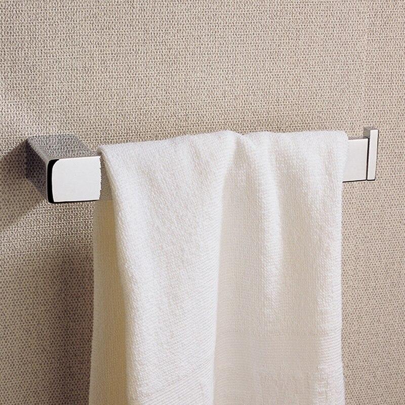 ФОТО Chrome Towel Rings Wall Mounted Brass Bathroom Accessories Contemporary Vintage Bath Towel Hanging Rail Rack Holder Home Decor