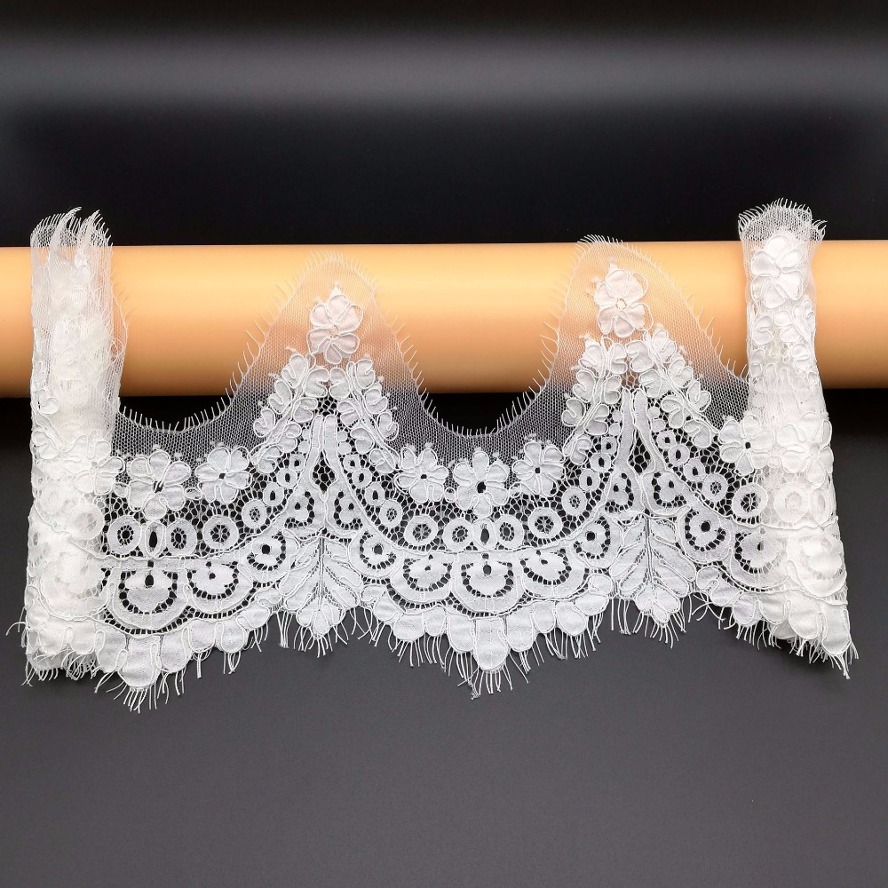 Us 1269 6 Off3 Yardspiece Off White Cording Eyelash Lace Trim Scallop Lace Women Wedding Dress Sewing Bone Line Corded Border Trimming Nice In
