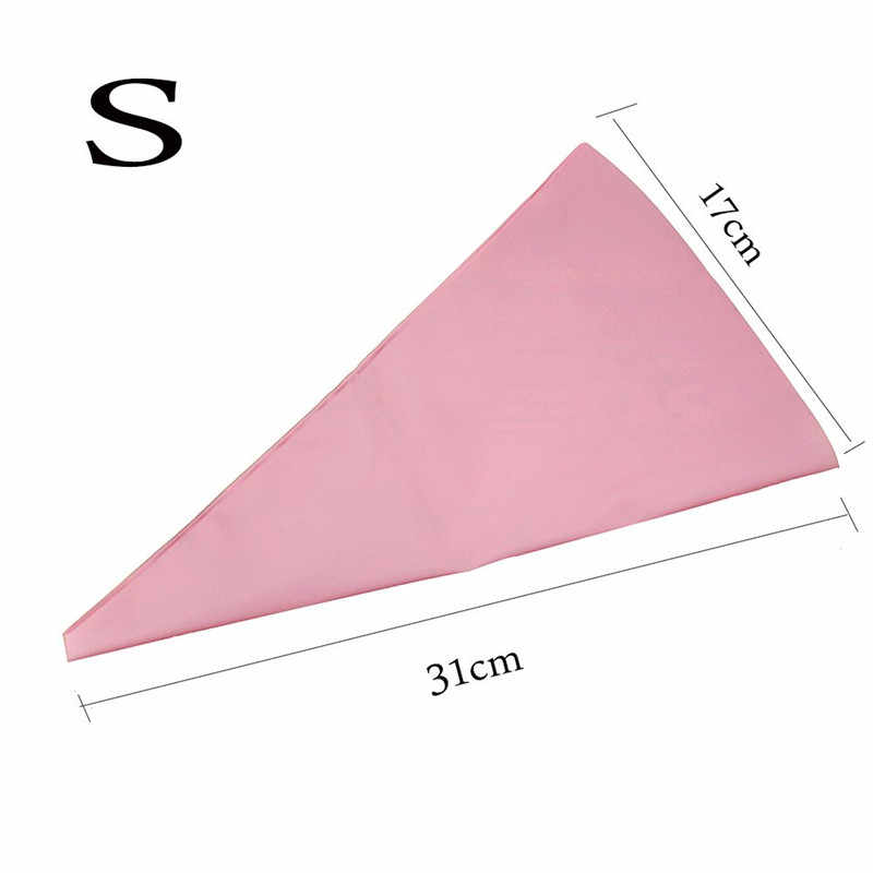 3 サイズピンク菓子バッグ再利用可能なシリコーンアイシング配管クリームペストリー Sugarcraft ケーキデコレーションベーキングツール