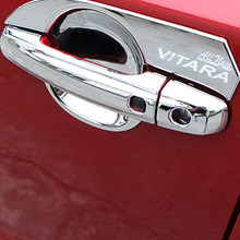 Luhuezu, хромированная крышка для дверной ручки, крышка ручки чаши для аксессуаров Suzuki Vitara 2015, 2016, 2017, 2018