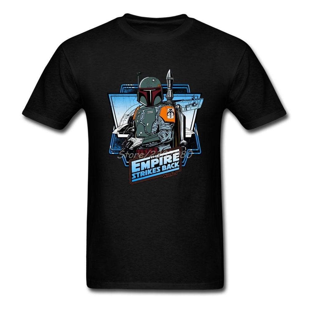 Boba Fett-The Empire Strikes Back T Shirt Personnalisé À Manches Courtes hommes Nouveau Groupe O-cou Coton Grande Taille Star Wars Mens T chemises