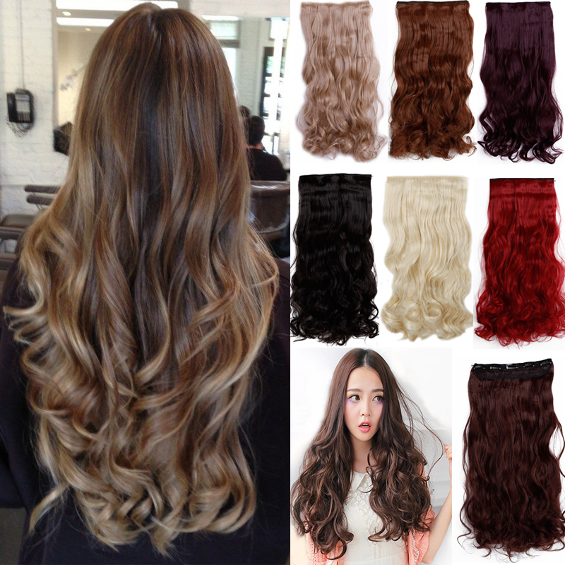 5 clips in hair extensions brown black blonde synthetic hair 5 clips in hair extensions brown black blonde synthetic hair extension long on aliexpress alibaba group pmusecretfo Gallery
