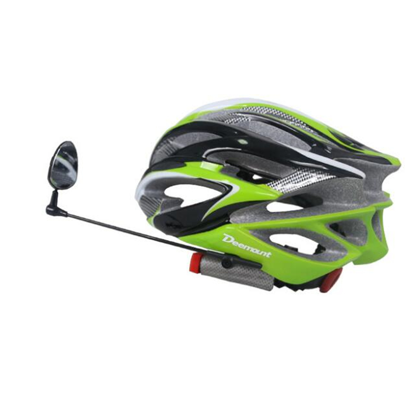 Cycling Helmet Mirror Rear Back View Watch Perception 360 Degree Rotatable Length Adjustable Safety Cap Left Right