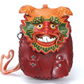 Ручной работы Спилка Coin Бумажник Wristlet лун сумки животные формы сумки кошелек мультфильм ноль бумажник Китайский Дракон Монета кошелек