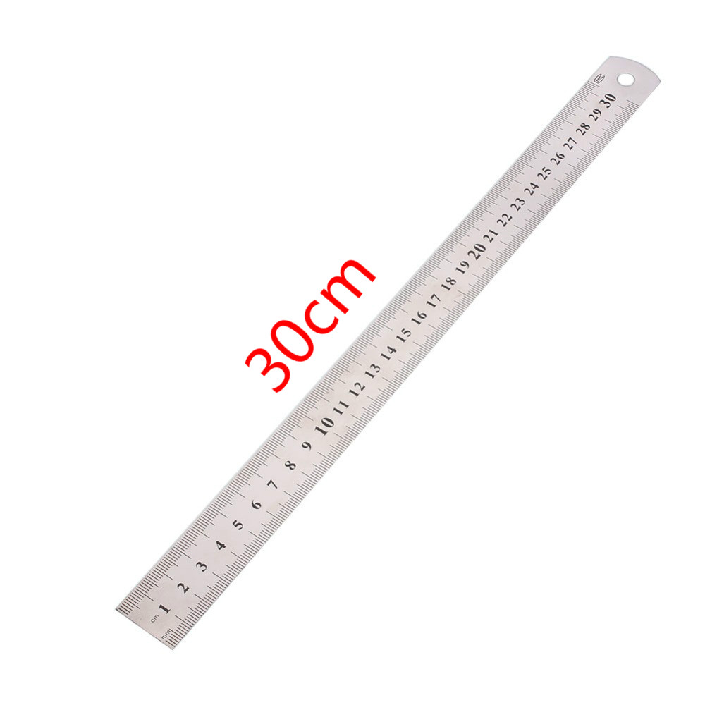 1Pcs Double Side 50 30 20cm Scale Stainless Steel Straight Ruler Measuring Tool School Office Supplies