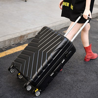 luggage British wind universal wheel password box trolley suitcase student Korean box 20/24/28 inch,ABS suitcase student coffer,