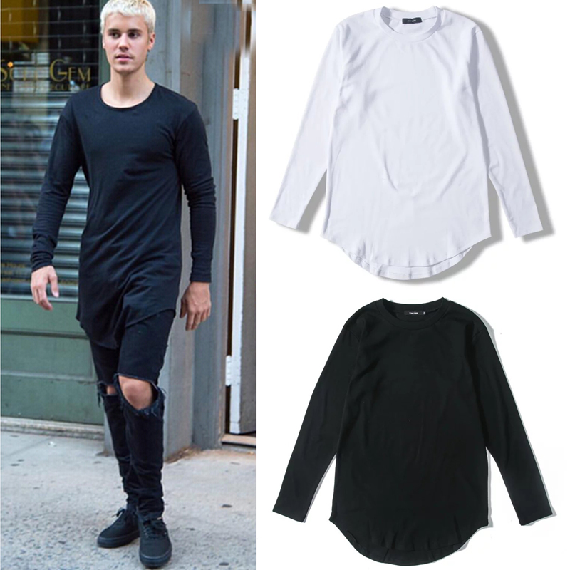 Justin bieber long sleeved t shirt before long after short for Justin bieber black and white shirt