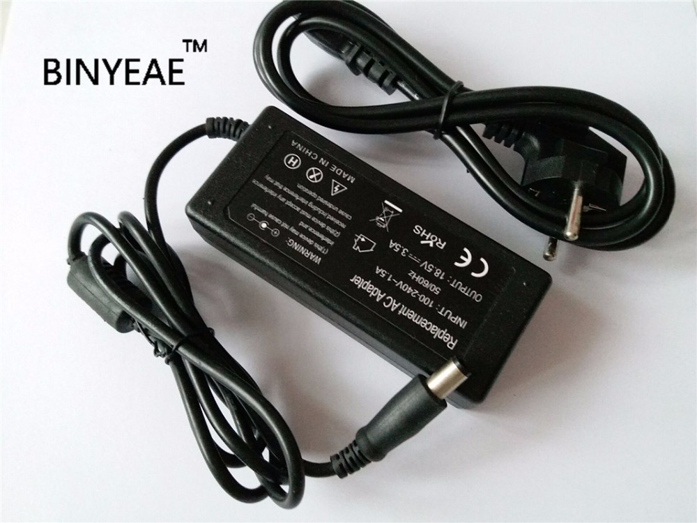 18.5V 3.5A 65w Universal AC Power Cord Adapter Battery Charger for HP Pavilion Dv4 DV5 DV6 DV7 Laptop Free Shipping new replacement ac laptop adapter for hp pavilion adapter power charger new 65w for hp pavilion g4 g5 g6 g7 notebook