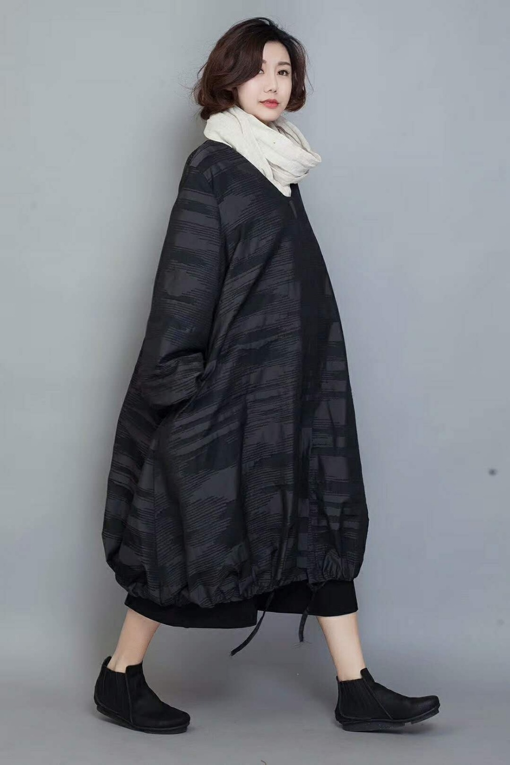 2018 female original design new spring high quality outerwear plus size loose long fashion casual brand trench