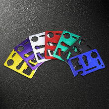 1PCS 7 Colors Multi Tools 11 in 1 Multifunction Outdoor Hunting Survival Camping Pocket Military Credit Card Knife