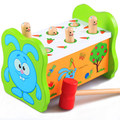 2017 Building Blocks Children Educational Toys Genuine Music Hit Hamster Fruitworm Large Wooden Percussion Beat Early Childhood