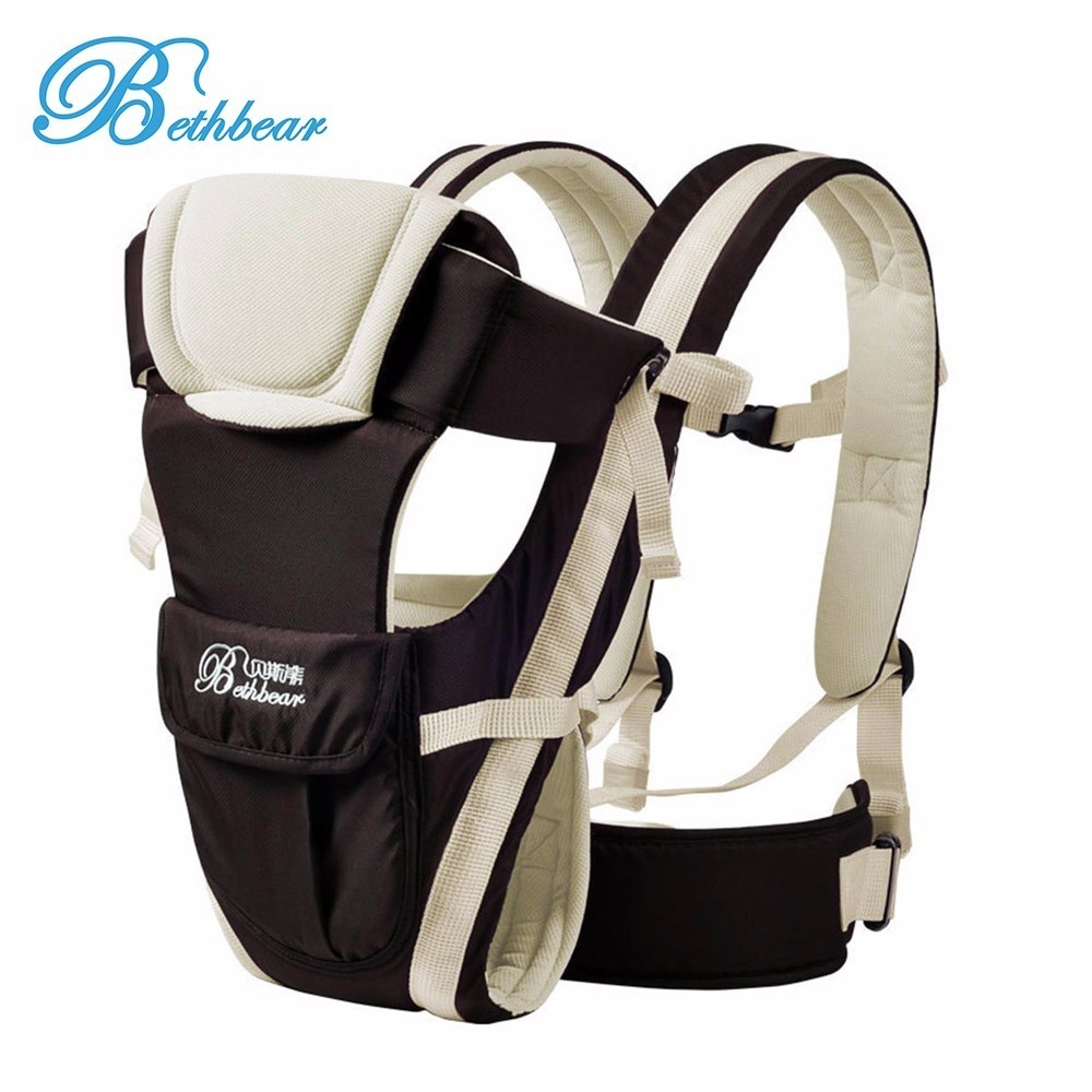 Bethbear 0-30 Months Baby Carrier Multifunctional 4 In 1 Adjustable Backpack Buckle Mesh Wrap Infant Comfortable Ventilate