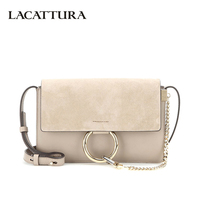 LACATTURA Luxury Flap Women Messenger Bags Designer Leater Handbag Chain Shoulder Bag Fashion Clutch Ladies Crossbody for Women