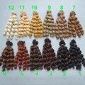 Бесплатная доставка завод предлагает оптовые 15 см/25 см коричневый cofffe БЖД/SD Кукла Парики/волос DIY вьющихся волос парик для 1/3 1/4 bjd кукла