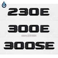 Car Trunk Lid Rear Emblem Badge Chrome Letters For Mercedes Benz 230E 300E 300SE W204 W203